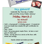 Tabletop Games Tournament Mar 2018