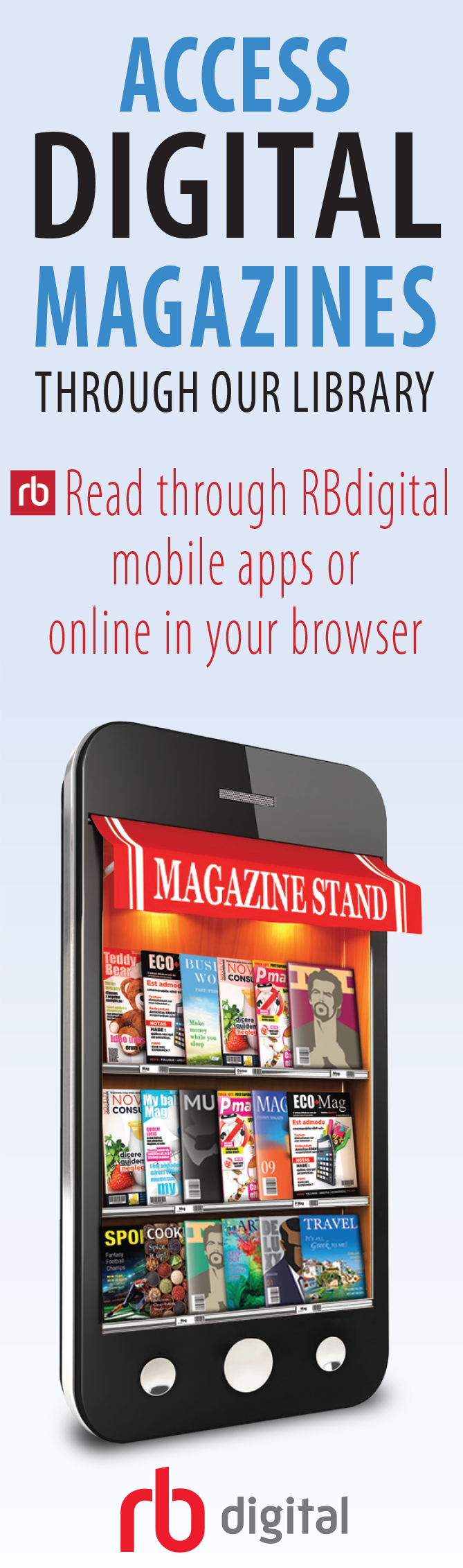 web ad for online magazine access