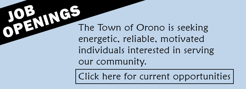 Town of Orono current job opportunities