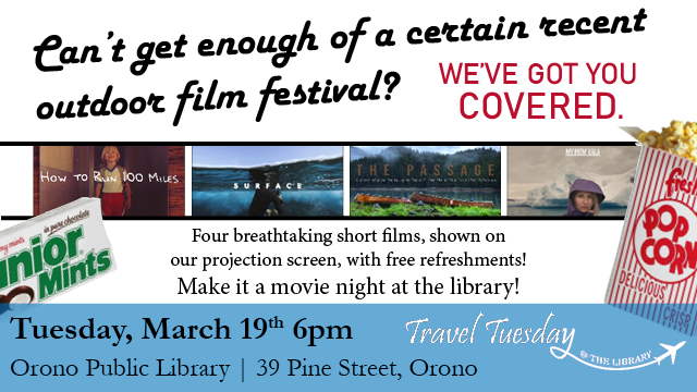Travel Tuesday Film Festival 3/19 6pm