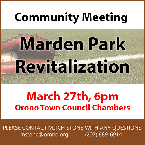 marden park town meeting 3/27 6pm Council Chambers link