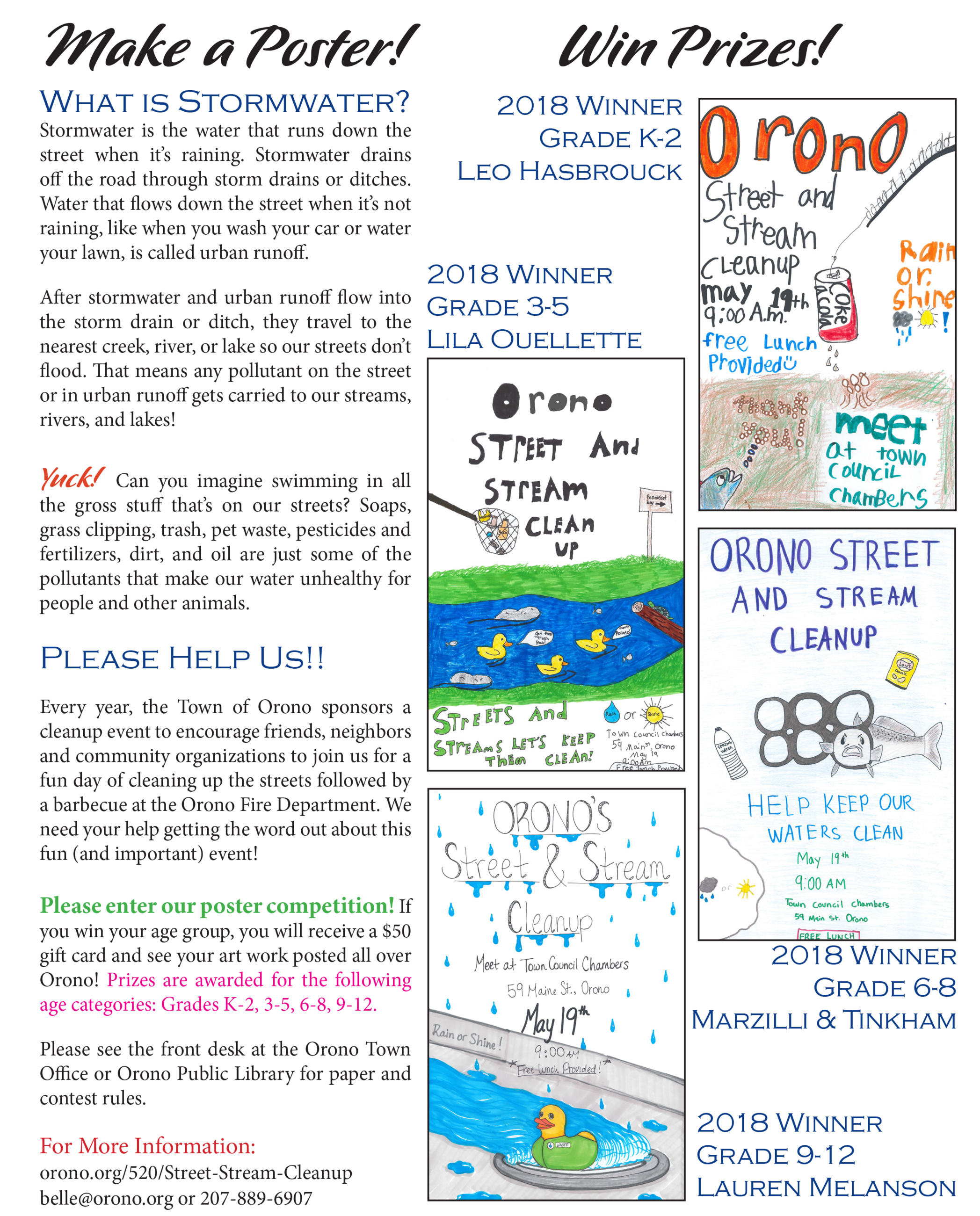 2019 Street & Stream Cleanup Poster Competition rules - click for screen-readable pdf