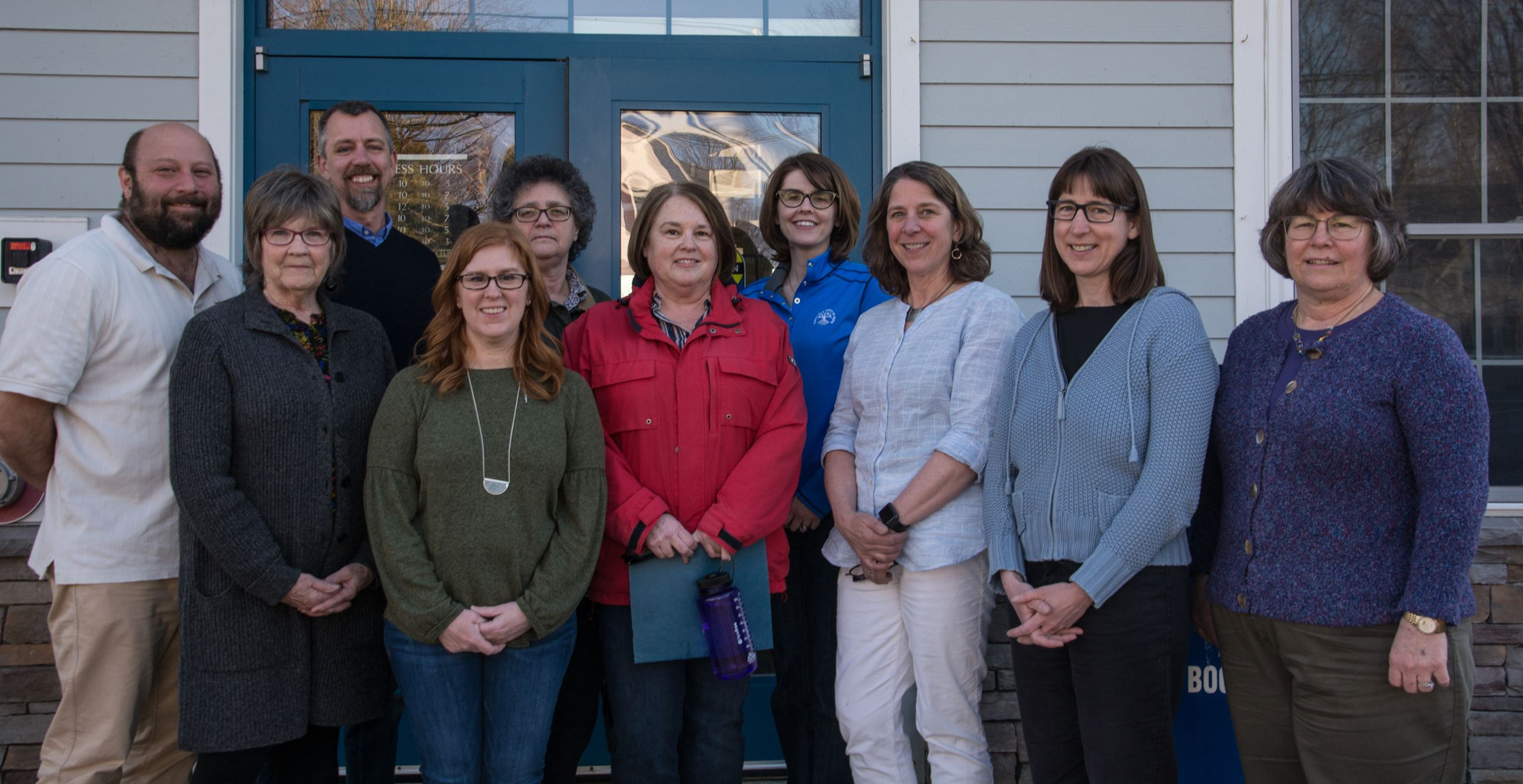 2019 group shot of Orono Public Library Foundation members