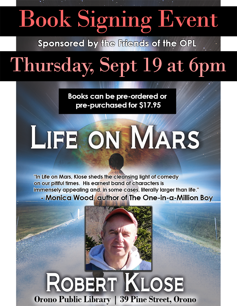 Book Signing Event Robert Klose 9/19 6pm