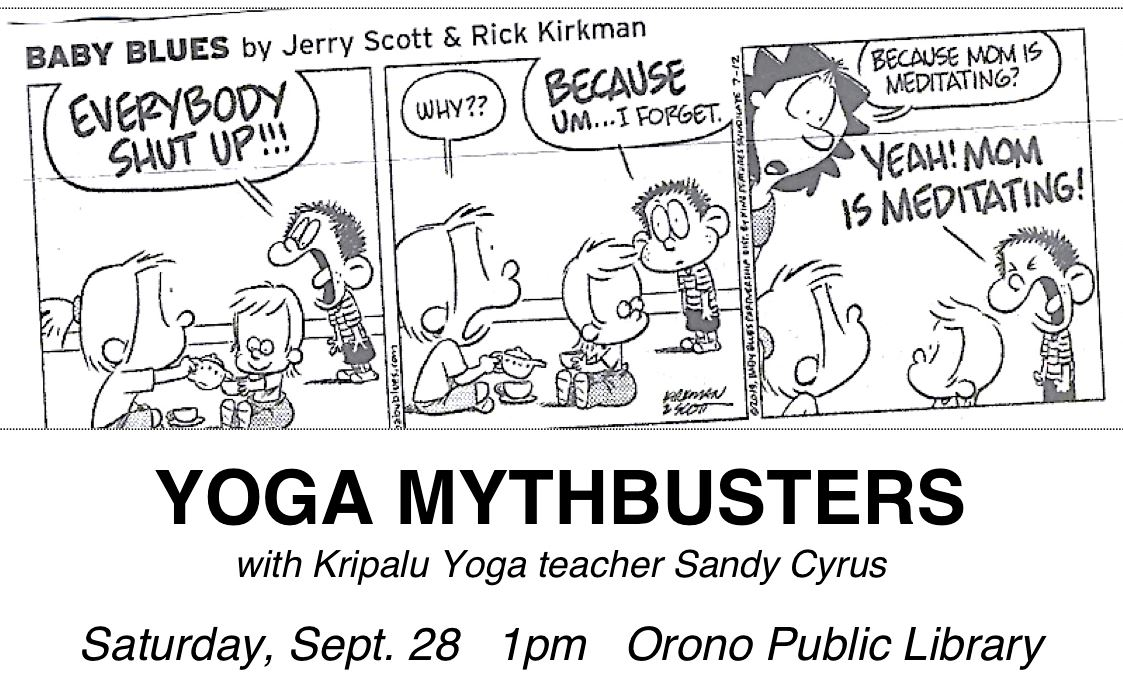 yoga mythbusters 9/28 at 1pm