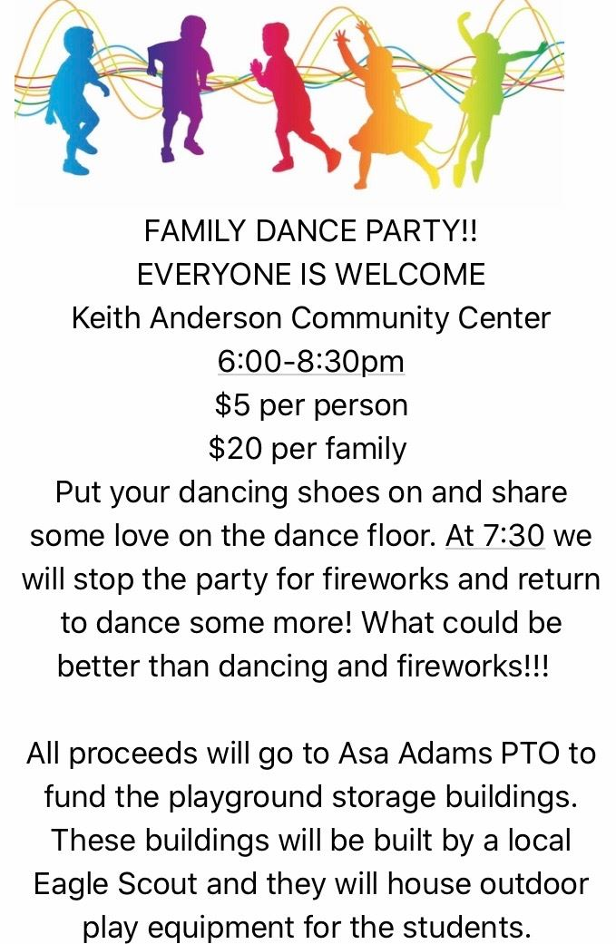 Family Dance Party 3/14 6PM Keith Anderson Building