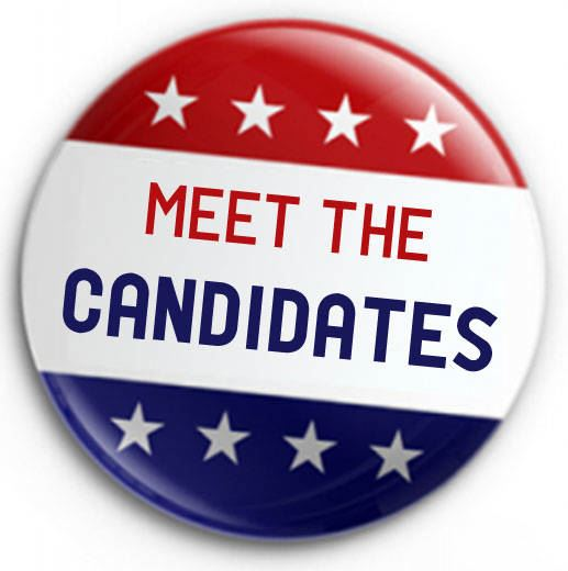 meet the candidates button