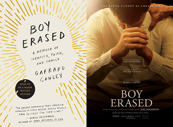 boy erased book cover and movie poster