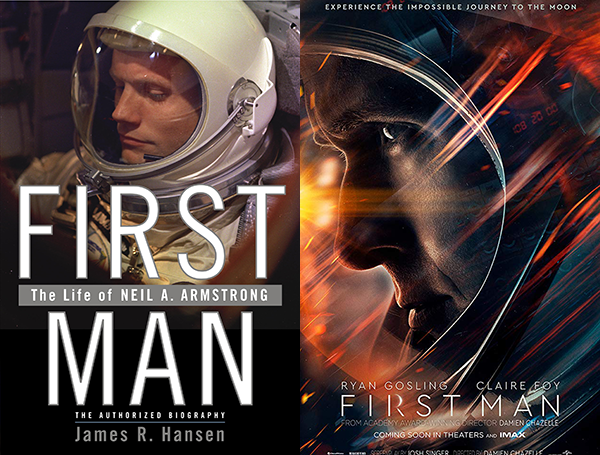 first man book cover and movie poster