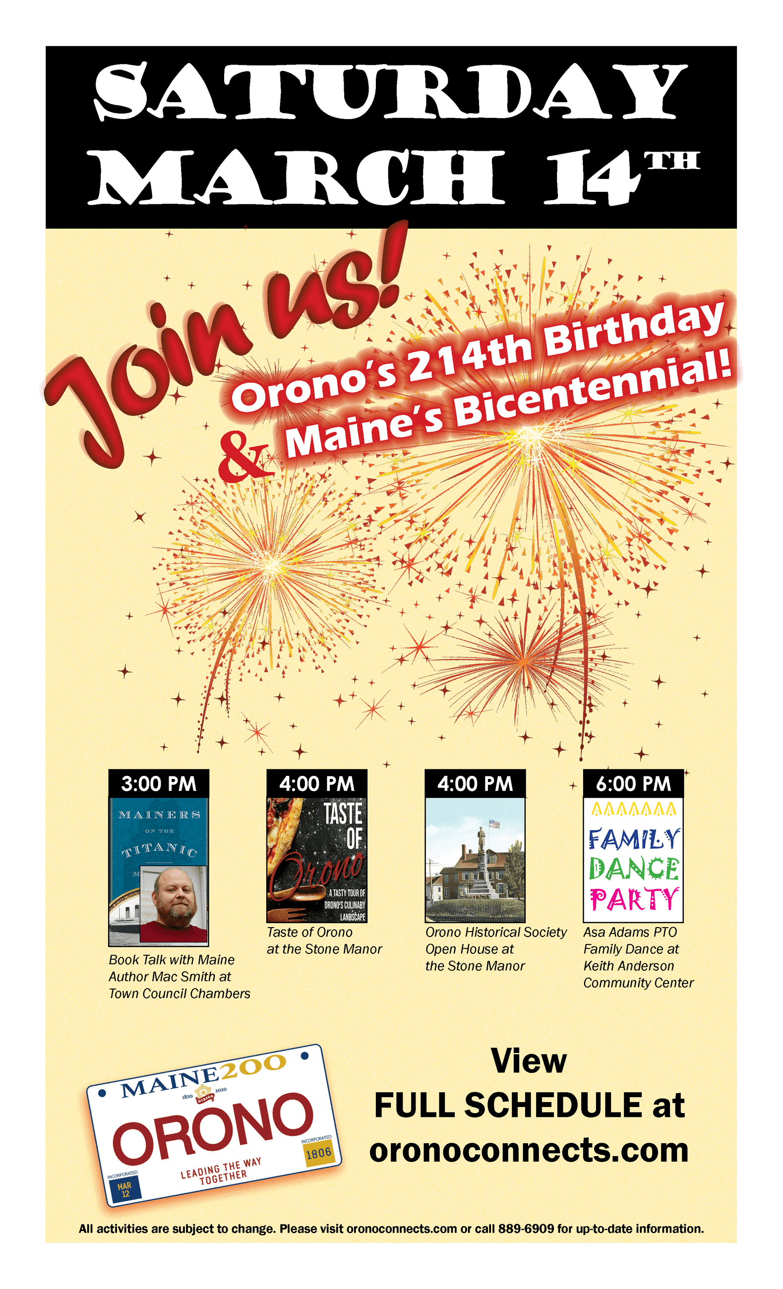 maine bicentennial party 3/14