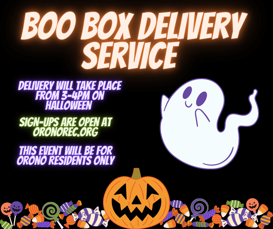 orono boo fest box delivery service advertisement