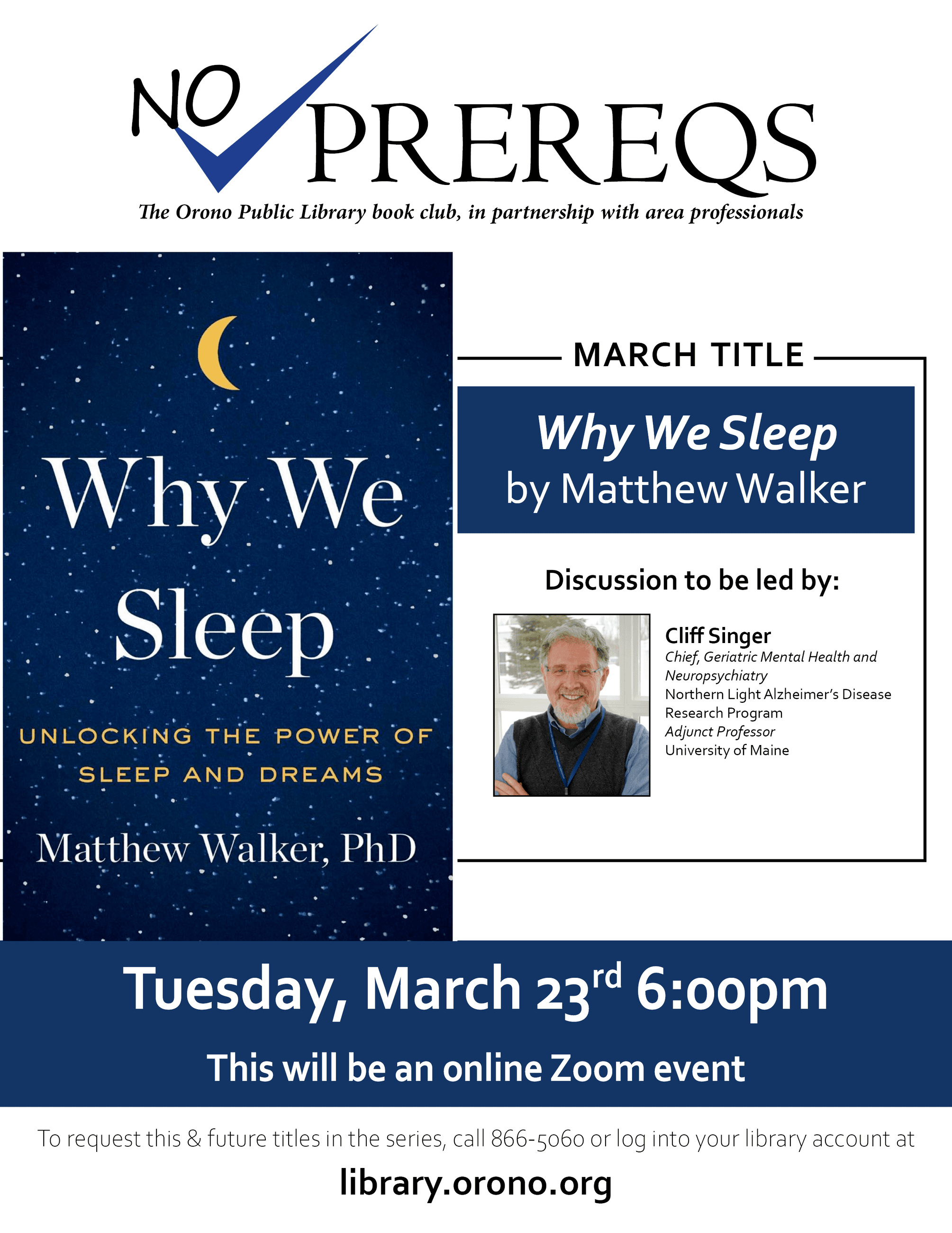 why we sleep noprereqs March 23rd