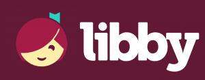 Libby Logo illustrated face reading  with ribbon in hair Opens in new window